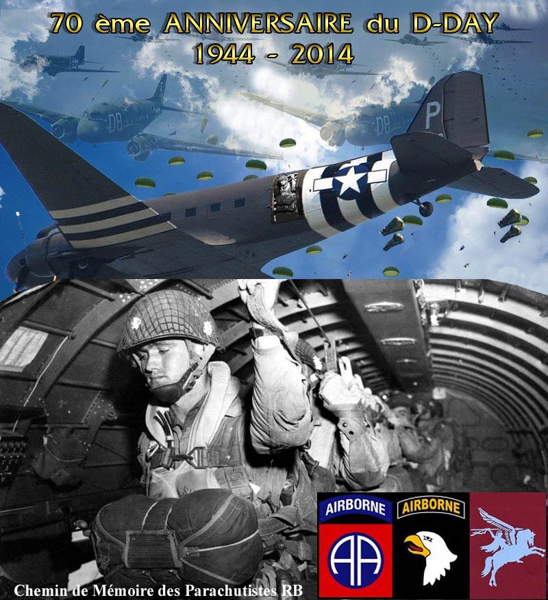 70e anniversaire du débarquement aéroportée dans la nuit du 5 au 6 juin 1944