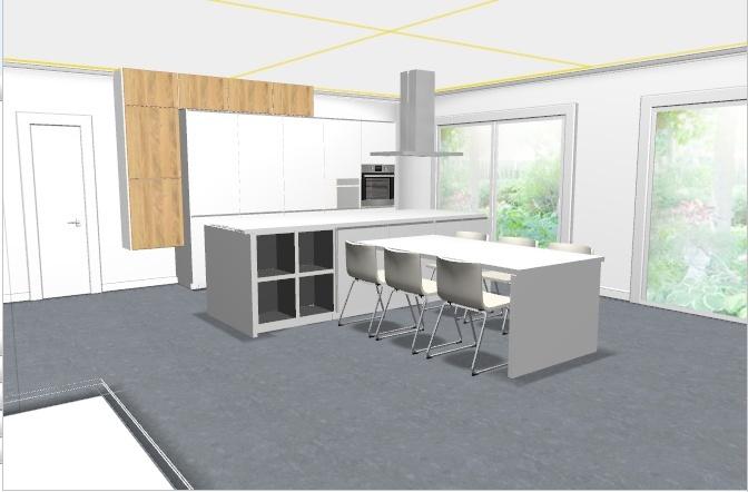 Amel construction en cours besoin de votre aide pr la d co for Table ilot extensible