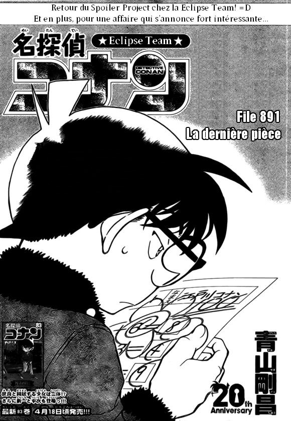 Détective Conan : Spoilers File 891