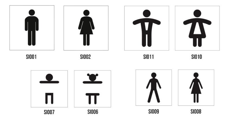 Modèles pictos WC