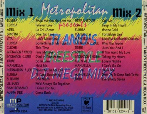 Metropolitan Ti Amo's Freestyle DJ Mega Mix
