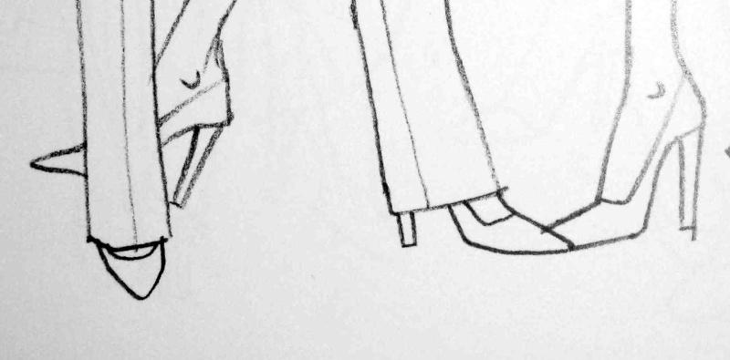 comment dessiner des escarpins
