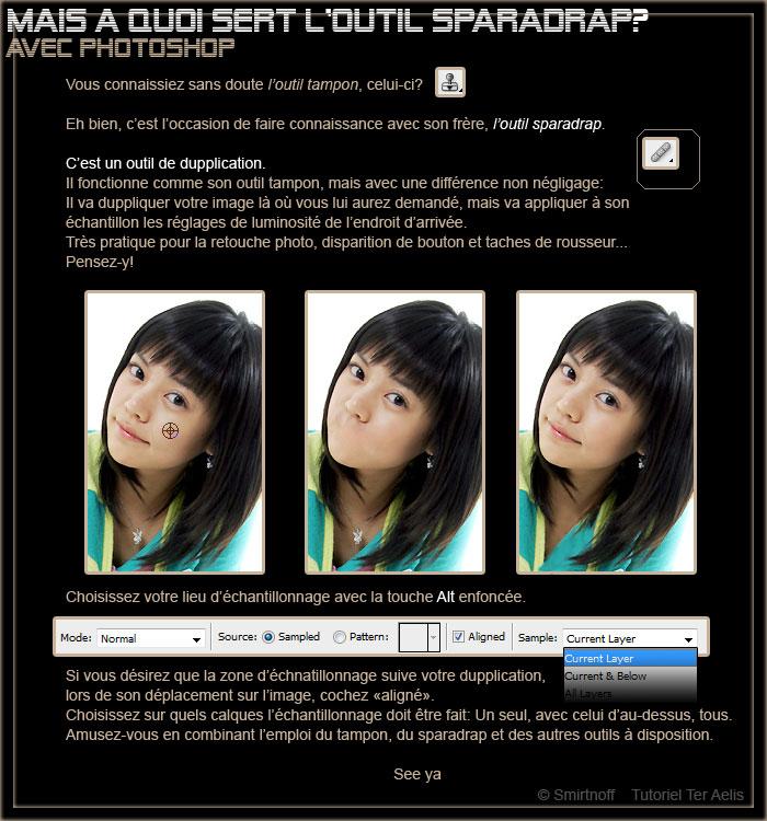 C 39 est quoi l 39 outil sparadrap photoshop for Outil miroir photoshop