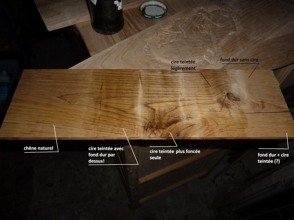 tu remarqueras que ta teinte nest pas uniforme en fonction du contrefil comme en bois de bout la teinte est plus fonce sur les zones qui boivent plus - Cire Colore Pour Meuble Bois