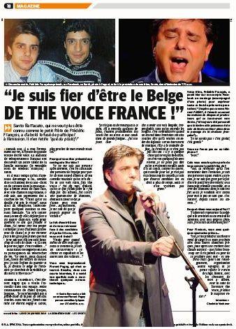 article de presse DH be lundi 20 janvier 2014
