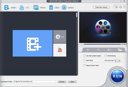WinX HD Video Converter Deluxe 5.0.5 Build 18.04.2014 - Conversor multimedia