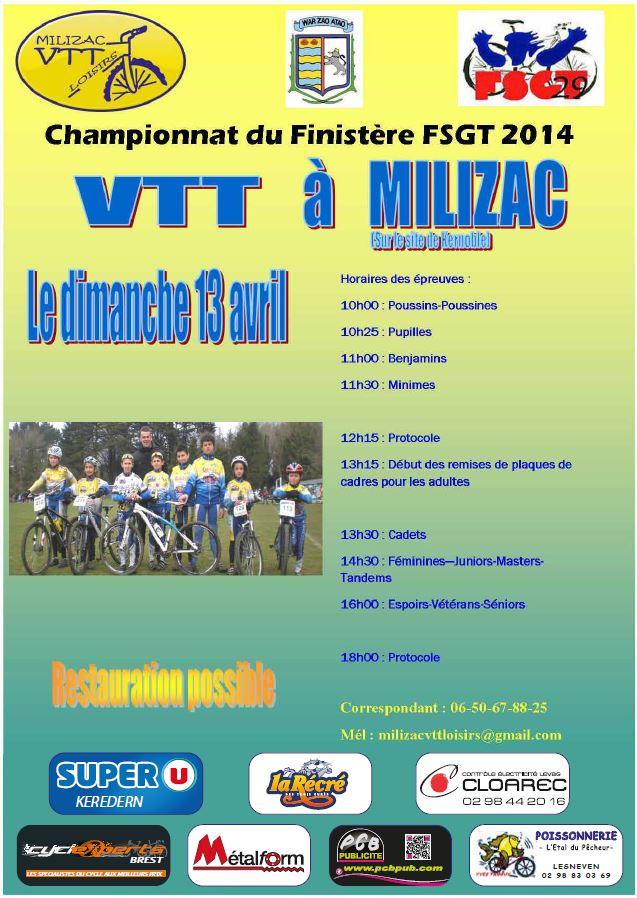 Championnat VTT du Finistère à MILIZAC le 13 AVRIL  affich13