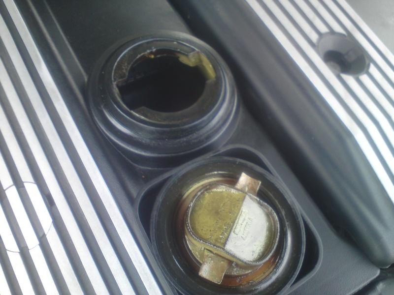 mayonnaise dans le bouchon huile moteur bmw s rie 3 e46. Black Bedroom Furniture Sets. Home Design Ideas