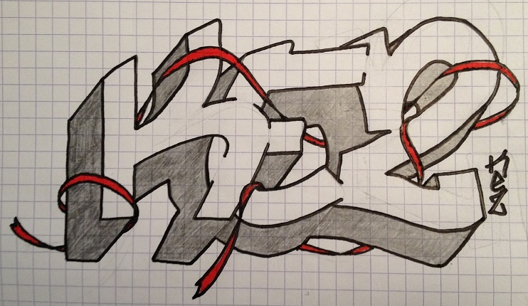 dessin graffiti simple kez - Dessin Graffiti