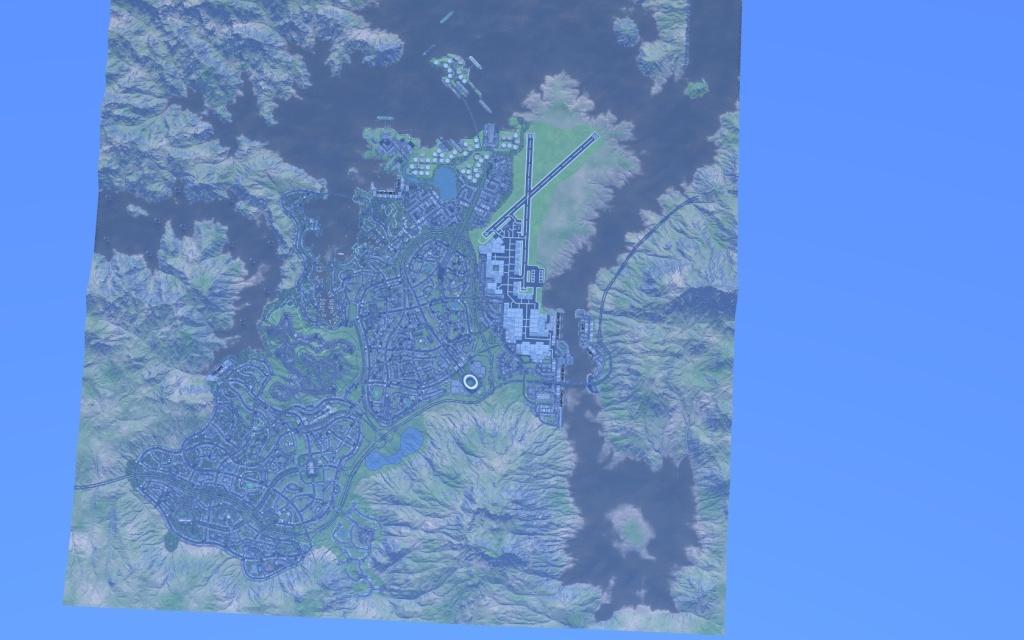 vue aérienne de la ville de Sant Quicia
