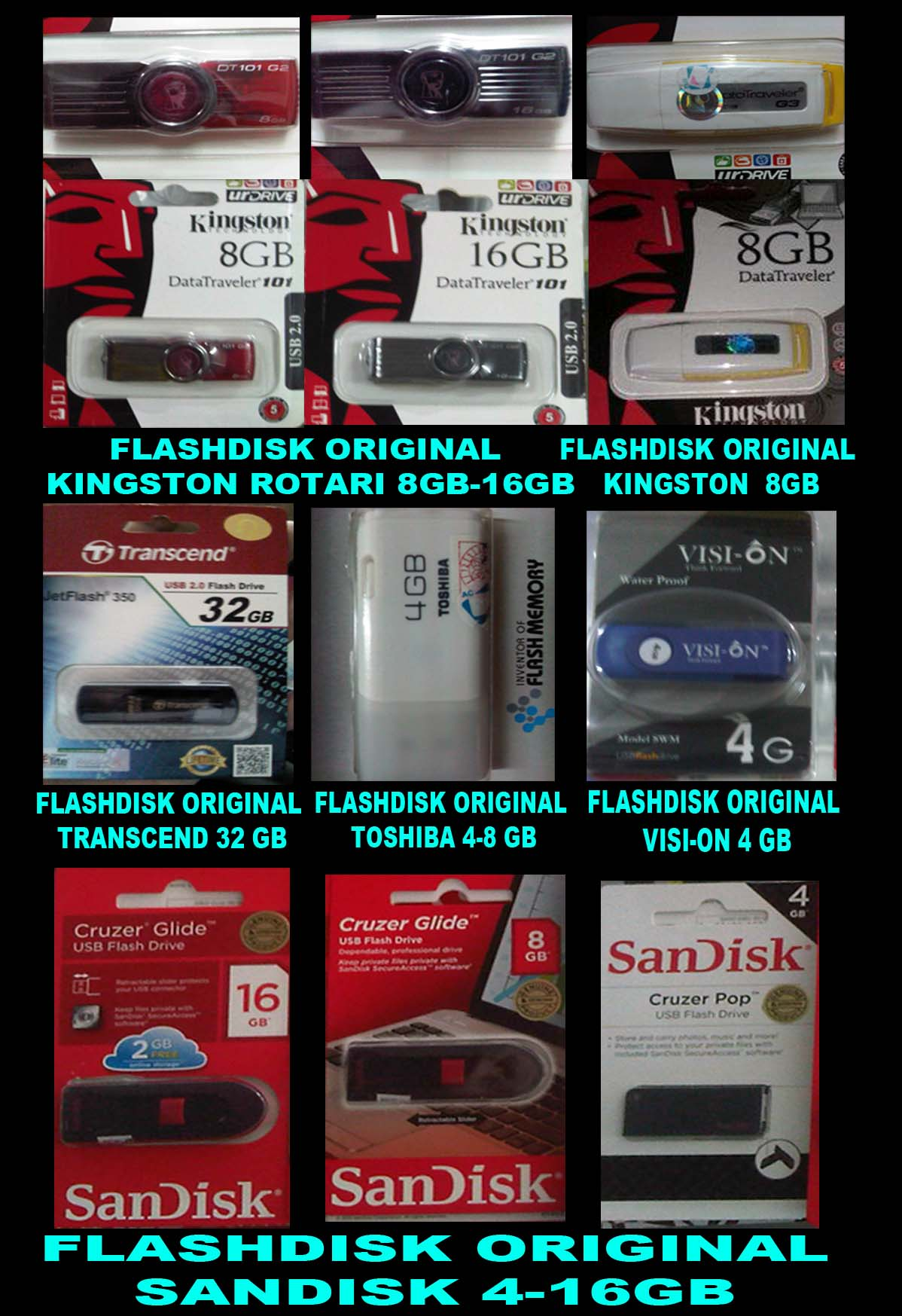 FLASHDISK ORIGINAL (REAL CAPACITY AND QUALITY)