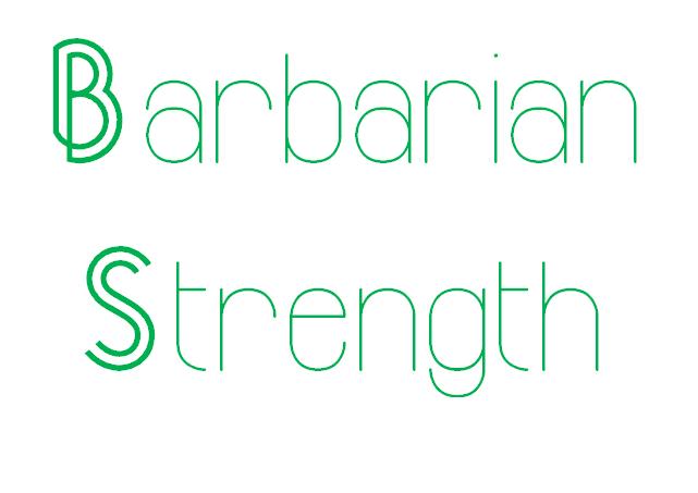 Barbarian Strength