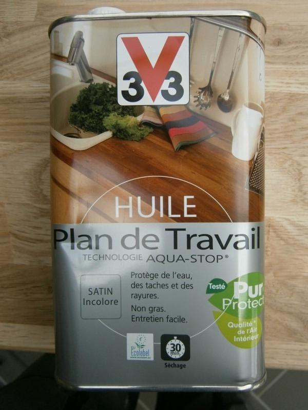 Montage d 39 une cuisine avec fa ades en ch ne - Peinture plan de travail v33 ...