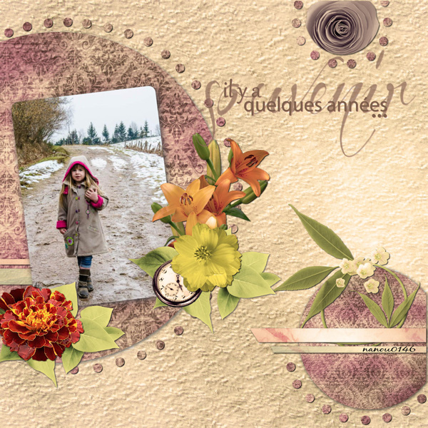 some years ago simplette scrap design vintage page nanou
