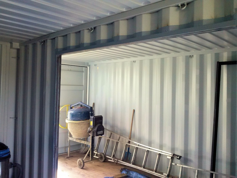 Garage en container maritime gironde for Autoconstruction maison container