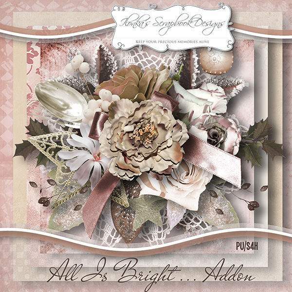 All Is Bright Addon by Ilonkas Scrapbook Designs