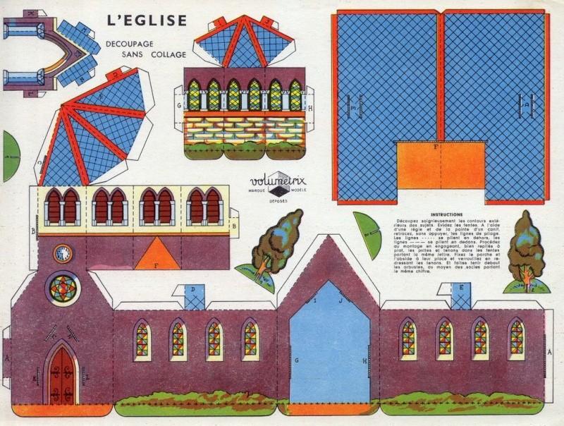 Construction d 39 glise - Decoupage maison a imprimer ...