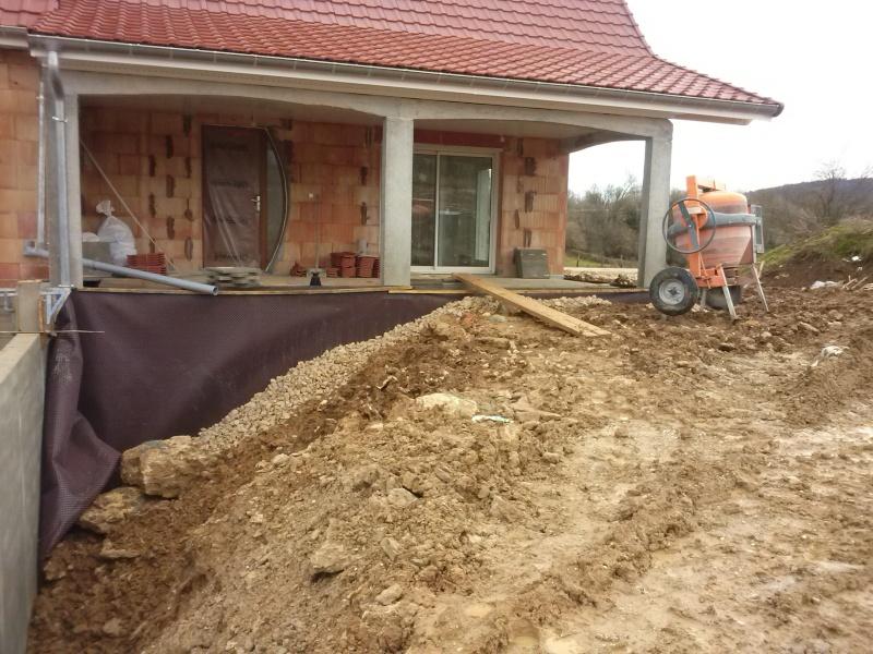 Remblaiement for Garage kit beton