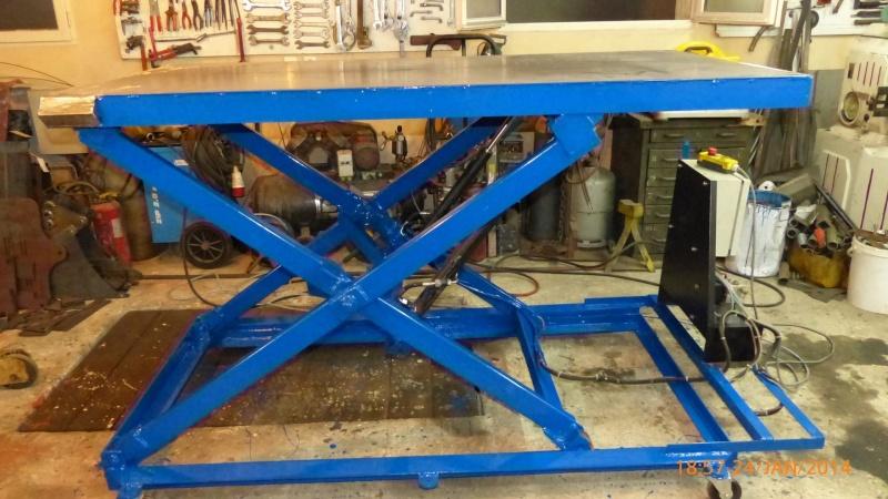 Fabrication d 39 une table de soudure l vatrice - Plan pour fabriquer table forestiere ...