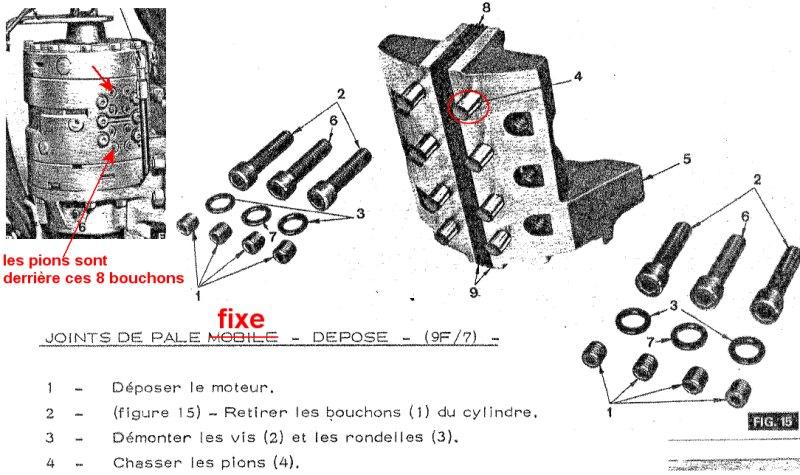 tracto mf50b d u00e9montage rotation pelle
