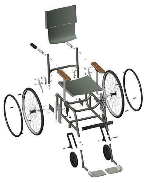 Dispositivos de ayuda a la discapacidad planos de silla for Sillas para planos