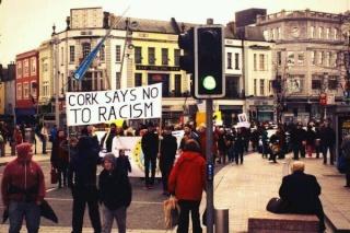 Manifestation antifasciste à Cork, également dans le sud de l'Irlande