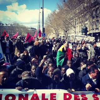 A Paris, ils étaient 3000 à manifester à l'initiative de l'Union Nationale des Sans-Papiers