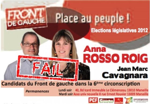 Anna Rosso-Roig, candidate du Front de Gauche en 2012