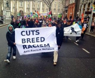 Plus de 200 manifestants contre le racisme à Dublin également.