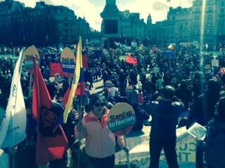 1000 manifestants contre le fascisme et le racisme à Glasgow