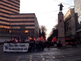 Ils étaient plusieurs centaines d'antifascistes dans les rues de Bilbao