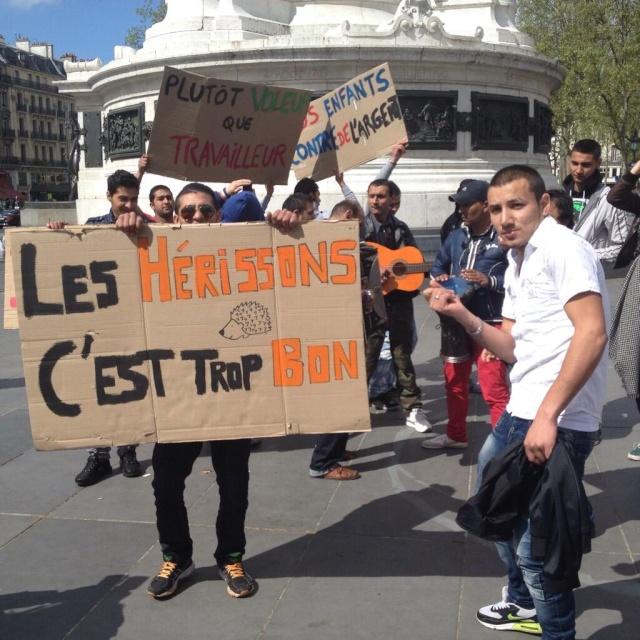 Rassemblement parisien à l'occasion du Roma Day du 8 avril 2014.