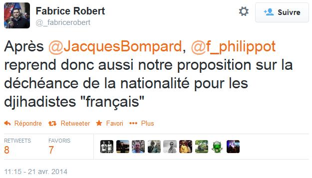 Ah qu'il est fier le Fabrice Robert !