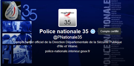 Compte twitter de la DDSP 35.