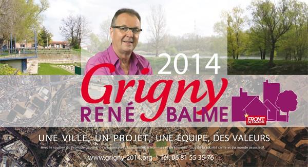 Un petit logo Front de Gauche sur le site de campagne de René Balme