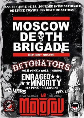Du Punk et du Hip Hop antifa le 22 au soir à Marseille.