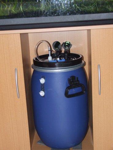 Construire un tres gros filtre externe for Pompe bassin externe