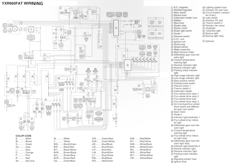 yamaha grizzly 450 wiring diagram within yamaha wiring and engine