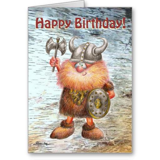 Поздравления с днем рождения викинга