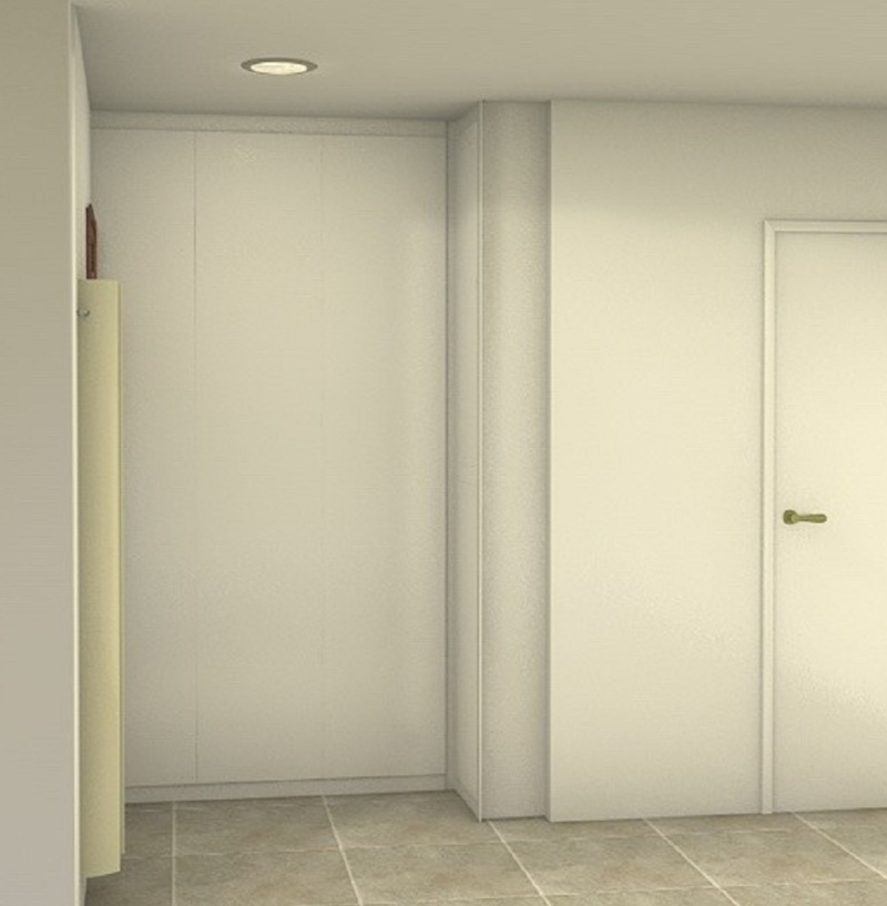 placard dressing dans un couloir projet en cours. Black Bedroom Furniture Sets. Home Design Ideas